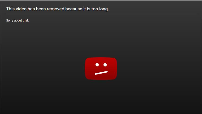 Marketing Video Too Long