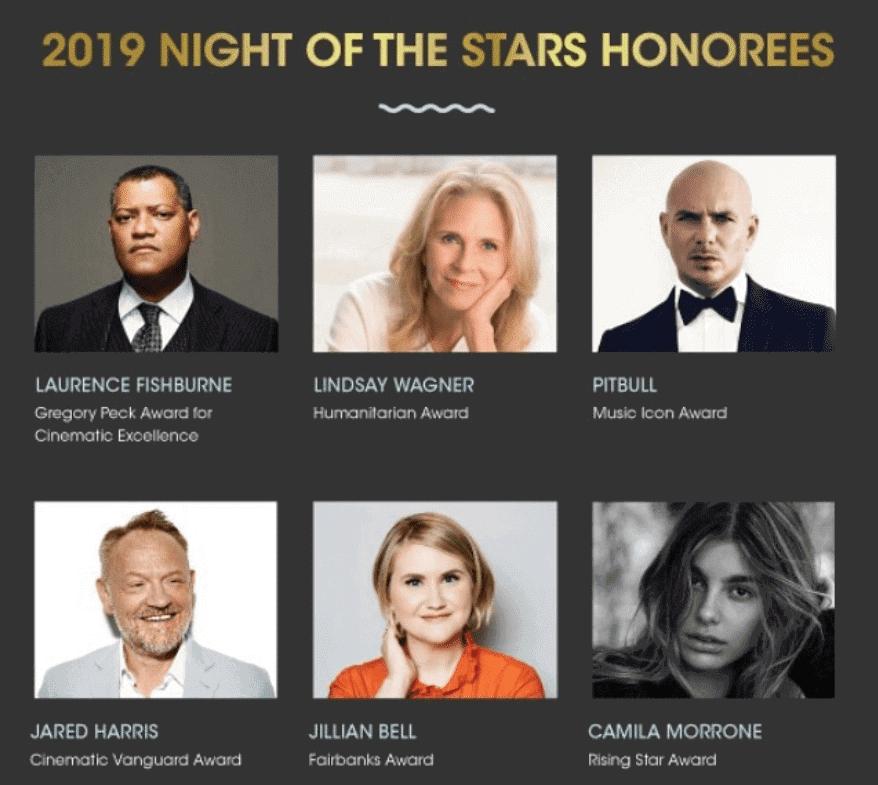Laurence Fishbourne, Lindsay Wagner, Putbull, Jared Harris, Jillian Bell, and Camilia Morrone were awarded